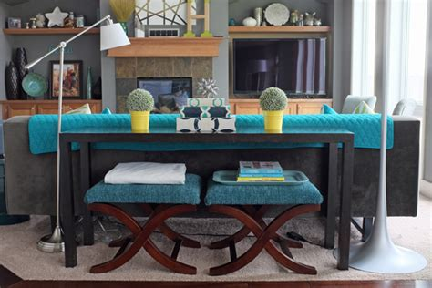 how to decorate a sofa table behind a couch how to style a sofa table