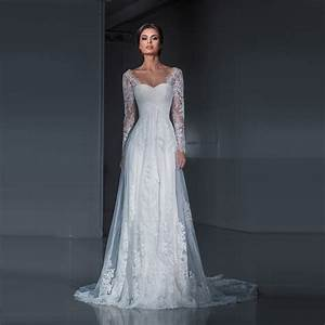 popular long sleeve fitted wedding dresses buy cheap long With wedding dresses with sleeves cheap