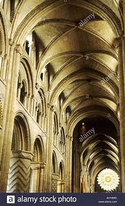 Durham Cathedral nave east rose window interior Medieval ...