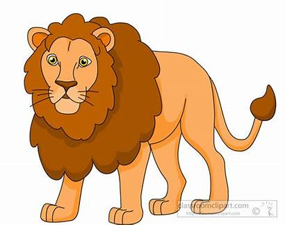 Lion Clipart Mane Tail Clip Cartoon Graphics