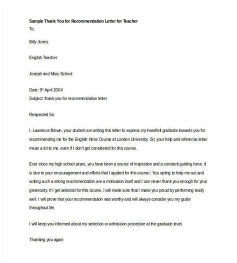 write  letter  recommendation   teacher