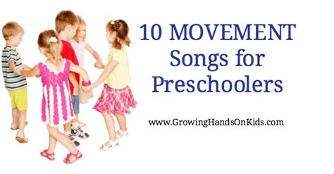 Kids music activities and free printable resources | children's music, lesson plans and teaching resources for babies and children. 10 Movement Songs for Preschoolers