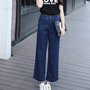 Summer Women Palazzo High Waist Baggy Boyfriend Jeans Wide ...