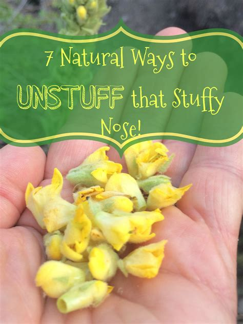 Seven Natural Ways To Clear Up A Stuffy Nose And Nasal