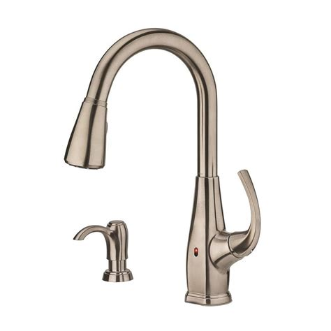 pfister selia kitchen faucet shop pfister selia stainless steel 1 handle pull deck