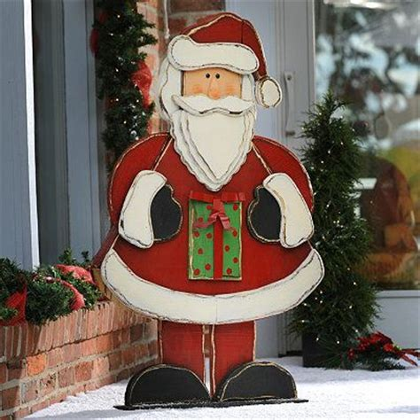 rustic wooden santa statue   crafts  dad