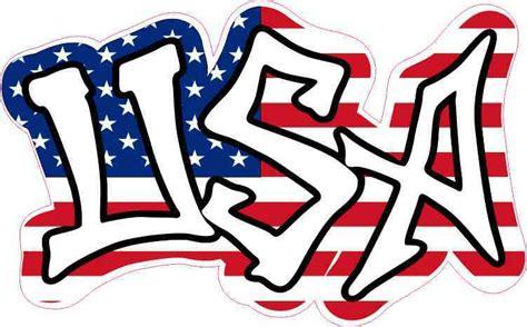 Graffiti Usa : 5in × 3in Usa American Flag Graffiti Sticker Vinyl