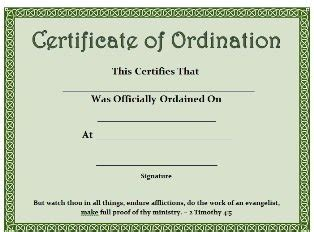 ordination certificate template free printable certificate certificate of ordination