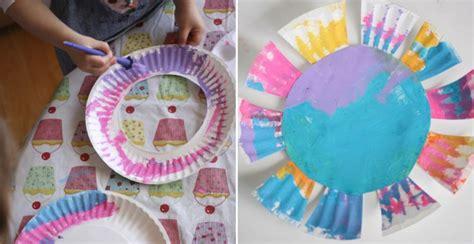 paper plate flowers diy crafts handimania