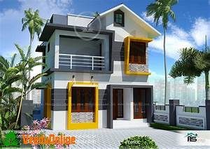 900, Sq, Ft, 3, Bhk, Double, Floor, Modern, Home, Design