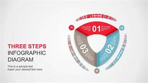 Three Steps Rounded Triangle Powerpoint Diagram