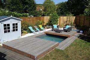 abord piscine bois et autres materiaux photos d With amenagement de jardin avec piscine 7 10 idees pour amenager lexterieur de la maison avec