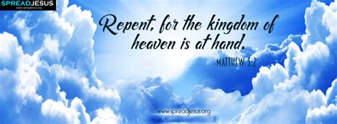 bible quotes facebook cover matthew   repent