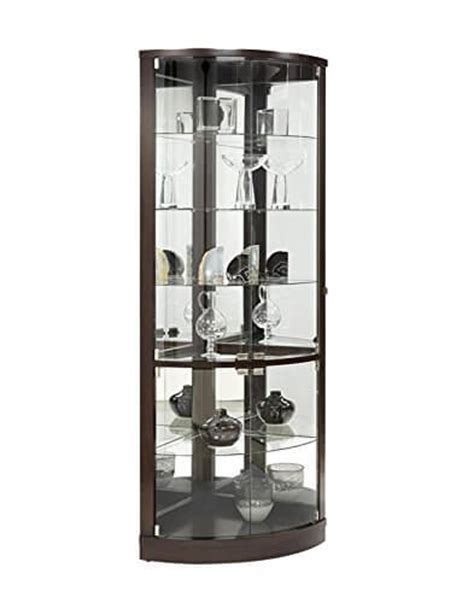 Pulaski Curved Glass Curio Cabinet by Top 10 Best Corner Curio Cabinets 2016 Home Stratosphere