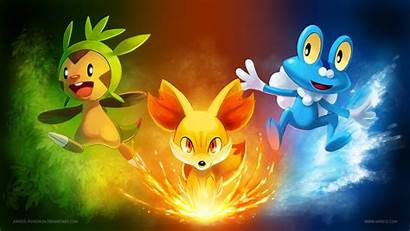 Pokemon Wallpapers Starters Starter Amazing Three Xy