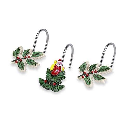 spode 174 christmas tree shower curtain hooks set of 12