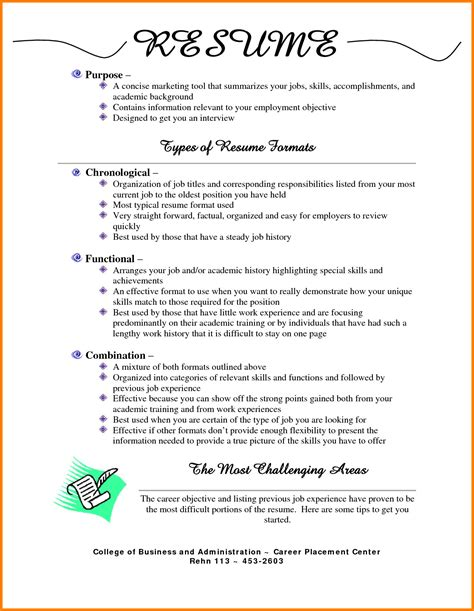Different Resume Formats by 7 Different Types Of Resume Format Pdf Defense