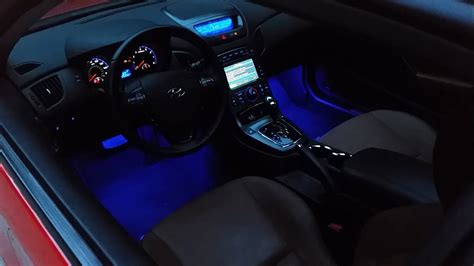 led interior foot  light install genesis coupe