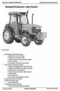 John Deere Tractors 5325n  5425n And 5525n Usa Service Repair Technical Manual  Tm2188     Truck