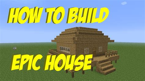 How To Build #6  An Epic House In Minecraft Youtube