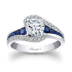 blue sapphire halo engagement rings barkev 39 s blue sapphire engagement ring 7898lbs