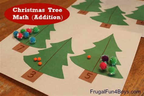 christmas tree math tree math