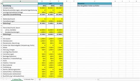 excel vorlage rentabilitaetsplanung kostenlose vorlage
