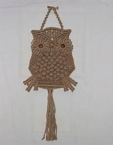 Makramee Eule Anleitung : makramee owl mit nat rlicher jute von handiworkclub auf ~ A.2002-acura-tl-radio.info Haus und Dekorationen