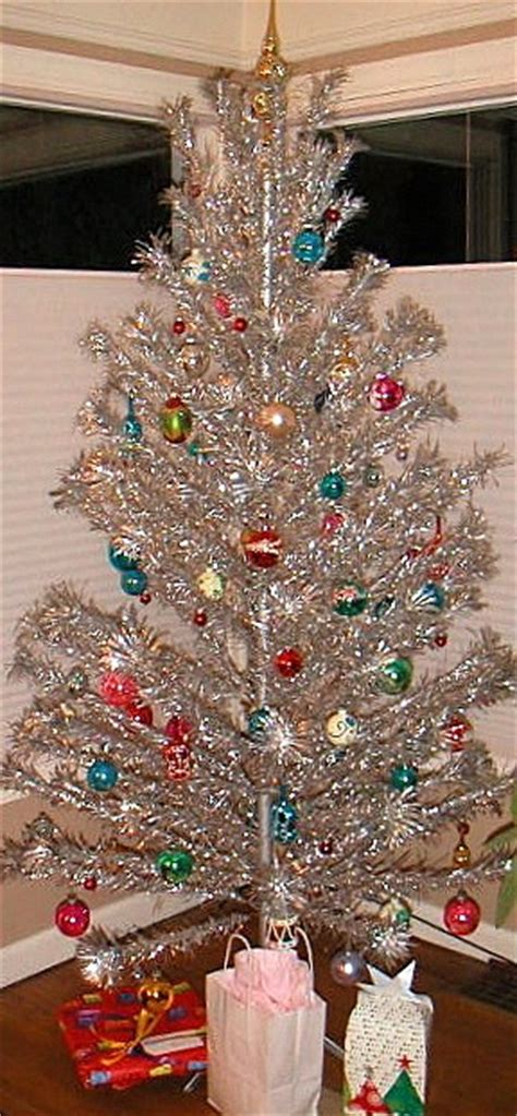 vintage aluminum tree and we had a color wheel that