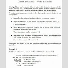 Sample Word Problem Worksheet  9+ Examples In Pdf, Word