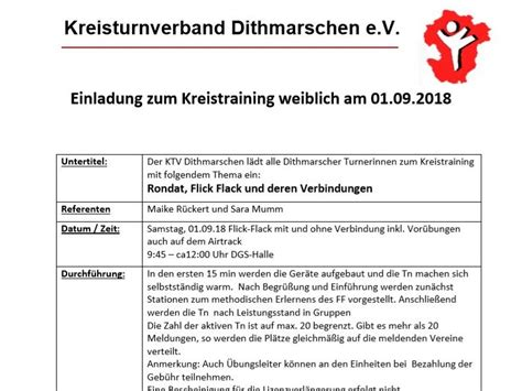 einladung zum kreistraining weiblich am 01 09 2018 ktv