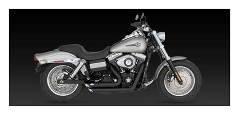 Vance & Hines Shortshots Staggered Exhaust For Harley Dyna