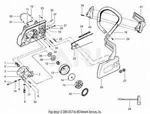 Poulan 3450 Gas Saw  3450  P219  Parts Diagram For Handle