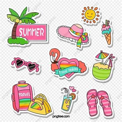 Stickers Cartoon Travel Romantic Psd Sticker Clipart