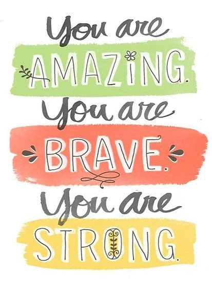amazing   brave   strong poster