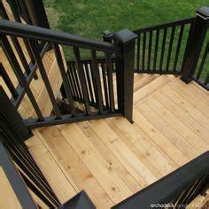outdoor gate for deck stairs 1000 images about deck railing and porch railing design 7227