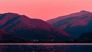 Mountains, At, Dawn, 4k, Wallpapers
