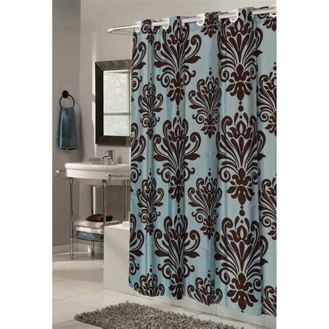 grommet shower curtain carnation home fashions ez on grommet damask fabric shower