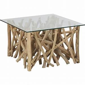 Wurzelholz Tisch Mit Glasplatte : couchtisch aus holz glas ~ Bigdaddyawards.com Haus und Dekorationen