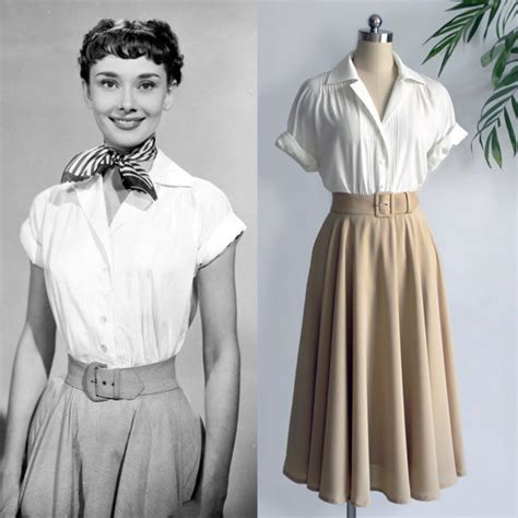 50s blouse vintage hepburn white blouse by