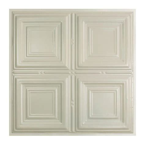 white tin ceiling tiles home depot great lakes tin syracuse 2 ft x 2 ft lay in tin ceiling