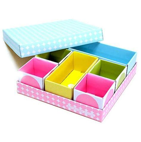 6 cell diy stationery makeup cosmetic desk drawer