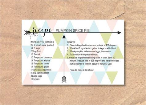 printable recipe card  psd vector eps png