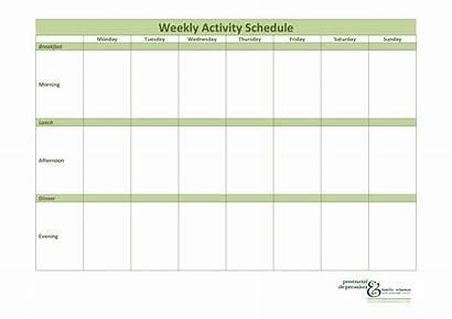 Schedule Activity Weekly Patient Template Allbusinesstemplates Templates