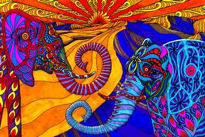 Psychedelic Elephants Drug Narcotic Quotes Gifs Acid