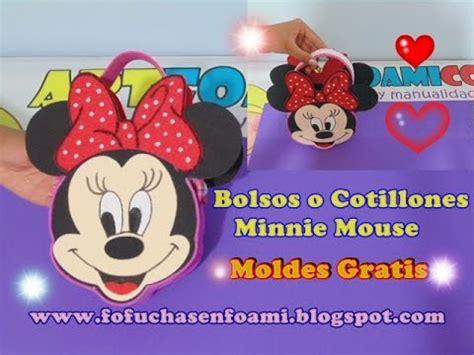 bolsos o cotillones minnie mouse en foamy para fiestas infantiles