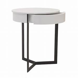 Table De Chevet Ronde : table de chevet ronde winter ~ Teatrodelosmanantiales.com Idées de Décoration