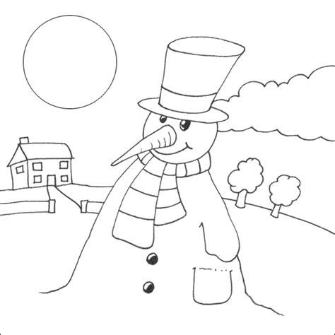 Sneeuwman Kleurplaat Simpel by Het Fluwelen Konijn Kinderboekenwereld