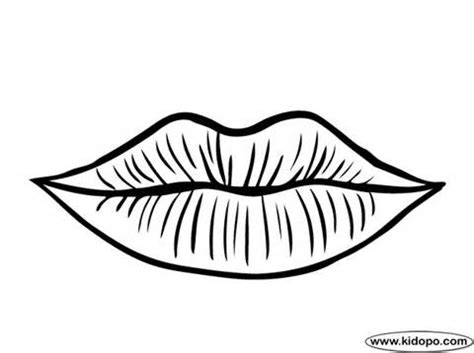 lips clipart coloring page pencil   color lips