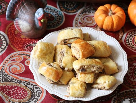 Mushroom And Cream Cheese Crescent Roll Appetizers